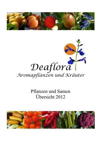 Deaflora Aromapflanzen und Kräuter Kataloge 2012 zum ...