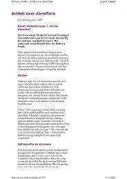 Artikel over darmflora - medisch fitness