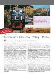 Transsibirische Eisenbahn – Peking – Moskau - Märklin