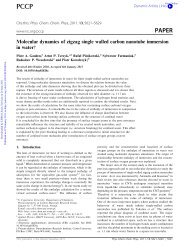 Molecular dynamics of zigzag single walled carbon nanotube ...