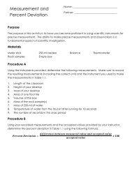 Lab 1 Measurement and Percent Deviation.pdf - EnvGeology