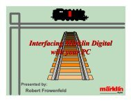 Interfacing Märklin Digital with your PC