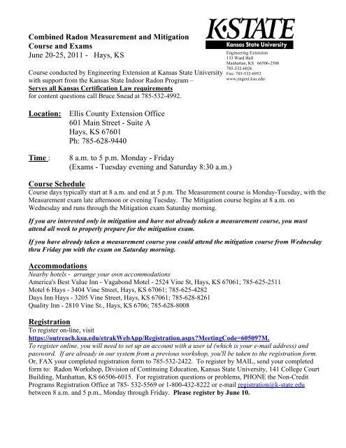 Radon Measurement Course and Exam - Kansas Radon Program
