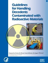 Guidelines for Handling Decedents Contaminated with Radioactive ...