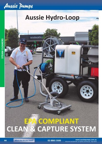Trailer Mounted Steam Cleaner with Recovery Unit ... - Aussie Pumps