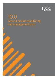 10.0 - Ground motion monitoring and management plan - QGC