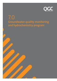 Groundwater quality monitoring and hydrochemistry program - QGC