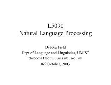 L5090 Natural Language Processing