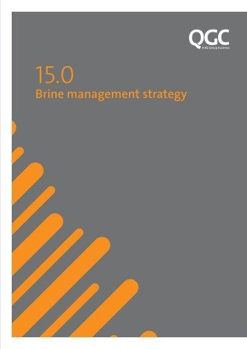 Brine management strategy - QGC