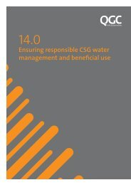 Ensuring responsible CSG water management and beneficial ... - QGC