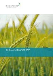 Rechenschaftsbericht 2009 - Sozialfonds Pensionskasse in ...