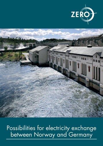 Possibilities for electricity exchange between Norway and ... - Zero