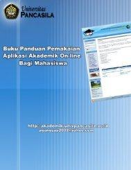 Download buku panduan - Akademik Online - Universitas Pancasila