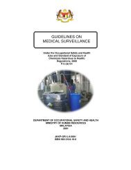 GUIDELINES ON MEDICAL SURVEILLANCE - Dosh