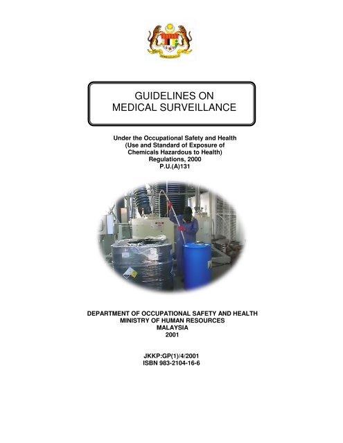 Guidelines On Medical Surveillance Dosh