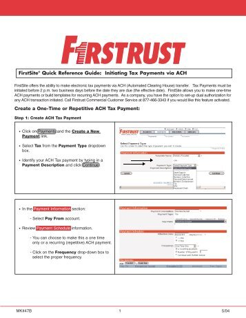 Electronic Federal Tax Payment System... - Firstrust Bank