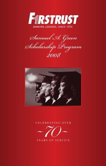 Samuel A. Green Scholarship Program - Firstrust Bank
