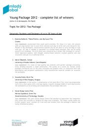 Young Package 2012 – complete list of winners