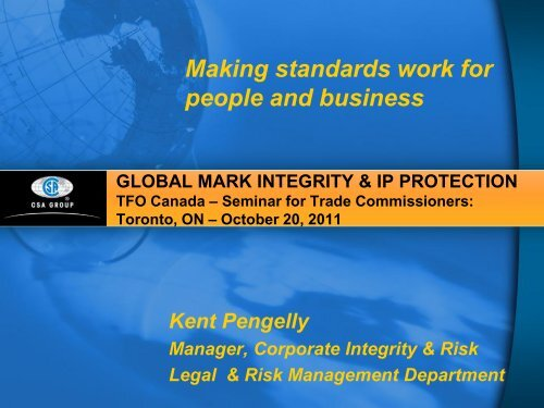 Product Safety & Compliance and Introduction to CSA Group