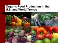 Organic Food Production in the U.S. and World Trends - CRDC