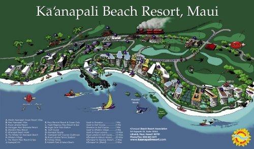 Map Roll Fold Ka Anapali Beach Resort Association
