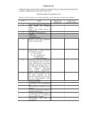 Application form for Eligibility Certificate - Maharashtra Tourism