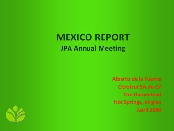 Mexican Orange Processing Industry - Juice Products Association