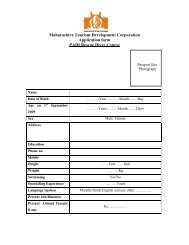 Maharashtra Tourism Development Corporation Application form ...