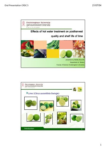 Effects of hot water treatment on postharvest quality and ... - CRDC