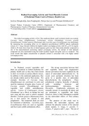 Radical Scavenging Activity and Total Phenolic Content