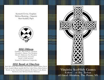 Kirkin (Order of Service) Program - Virginia Scottish Games