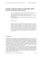 Irregular synchronous activity in stochastically-coupled networks of ...