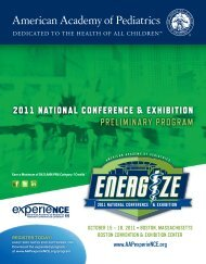 Download - American Academy of Pediatrics National Conference ...