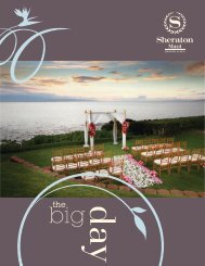 Weddings Packet 2013 - Sheraton Maui