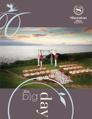 Weddings Packet 2013 - Sheraton Maui