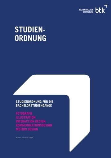BTK Rahmen-Studienordnung