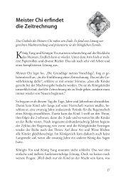 Meister Chi erfindet die Zeitrechnung - Synergia Verlag