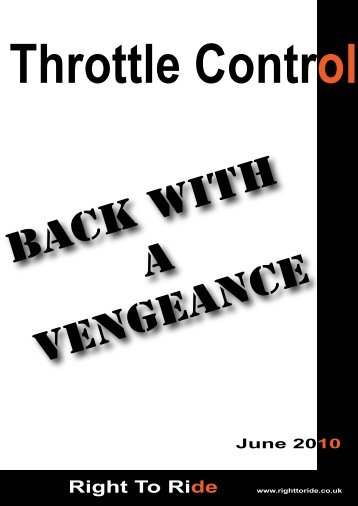 Back With A Vengeance – Right To Ride – June 2010