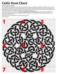 Celtic Knot Chart - Knitting Universe