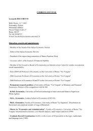 curriculum vitae - CEIS