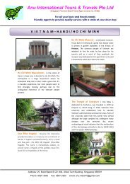 Vietnam - Anu International Tours & Travels Pte. Ltd.