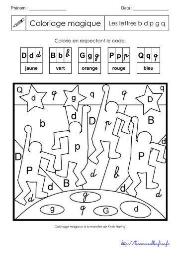Magique Lettres Poissons Niveau Moyen Cp Ce1 Coloriage Magique