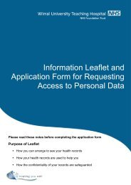 Access to Information Leaflet - Wirral University Teaching Hospital ...