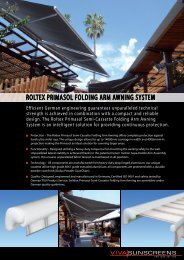 ROLTEX PRIMASOL FOLDING ARM AWNING ... - Viva Sunscreens