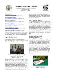 May Issue - California Rare Fruit Growers, San Diego Chapter