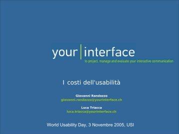 I costi dell'usabilità - TEC-Lab
