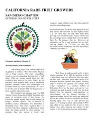 October Issue - California Rare Fruit Growers, San Diego Chapter