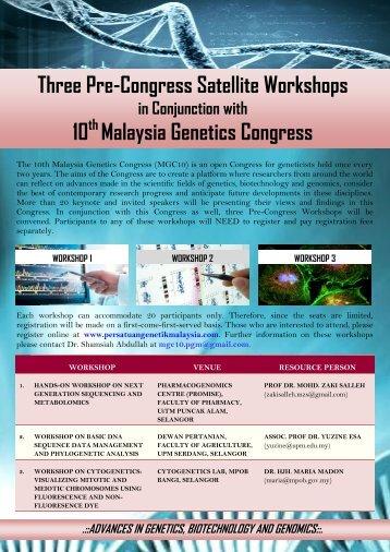 download pre-congress satellite workshops flyers - Persatuan ...