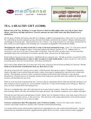 Tea - Healthy Choices for Mind and Body