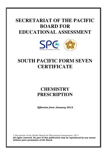 SPFSC Chemistry Prescription eff12 pdf - SPBEA